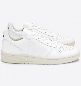 "Veja ""V-10 Leather"" - extra white"