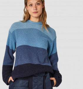 "K.O.I. Strickpullover ""May"" (Wolle) - blau"