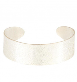"Armreif ""Brushed Cuff"" - silber"