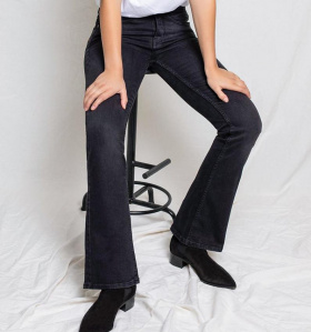 "Kuyichi Jeans ""Amy Bootcut"" (vegan) - faded black"