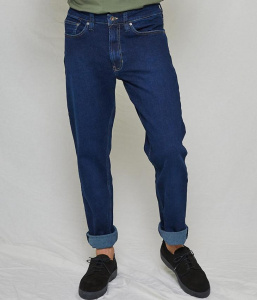 "Kuyichi Jeans ""Scott Regular"" (vegan) - classic blue"