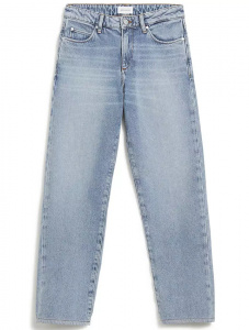 "Jeans ""Fjellaa Cropped"" (vegan) - mid blue"