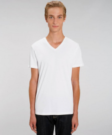 "V-Neck T-Shirt ""Stanley Presenter"" - weiß"