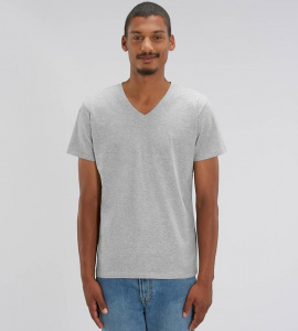 "V-Neck T-Shirt ""Stanley Presenter"" - heather grey"