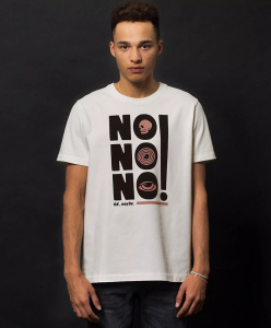 "Nudie T-Shirt ""Roy No No No"" - weiß"