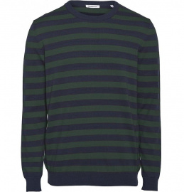 O-Neck Striped Knit - dunkelblau/grün