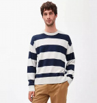 "Pullover ""Steraa Stripes"" - ecru/navy"