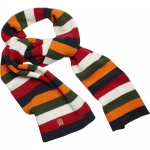 Striped Ribbing Scarf - total eclipse