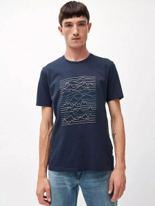 "T-Shirt ""Jaames Linescape"" - navy"