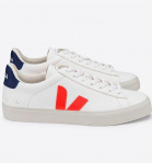 "Veja ""Campo Leather"" - orange white fluo cobalt"