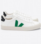 "Veja ""Campo Leather"" - extra white emeraude black"