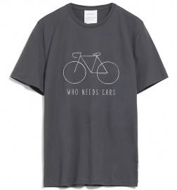 "T-Shirt ""James Bike City"" - grauschwarz"