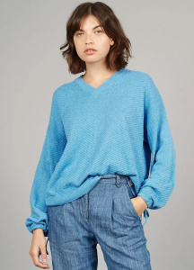 "Knit Jumper ""Roma"" - ocean"