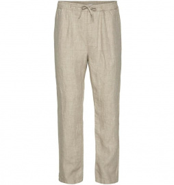 Birch Loose Linen Pants - light feather gray