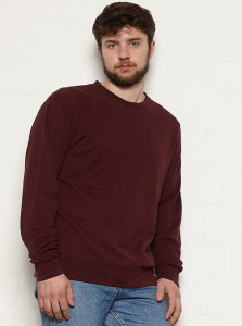 "Hanf Sweatshirt ""Marsh"" - plum"