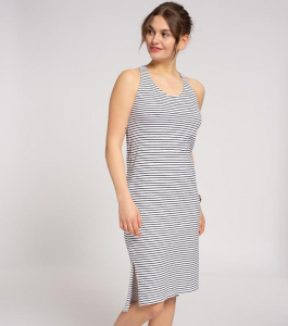 "Sleeveless Jersey Dress ""Stripes"" - navy/white"
