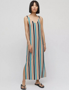 "Jersey-Dress ""Madalenaa Multi Stripe"" - night sky-kitt"