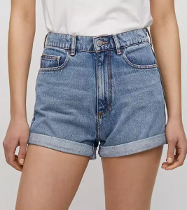 "Denim Shorts ""Silvaa"" - faded blue"