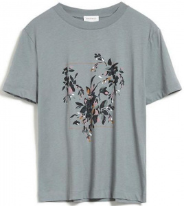 "Shirt ""Miaa Floral Frame"" - frozen reed"