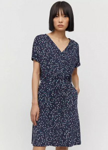 "Jersey-Dress ""Laavi Small Flower Sprinkle"" - night sky"