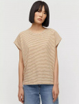 "Shirt ""Ofeliaa Pretty Stripes"" - dark caramel/off whit"