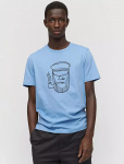 "T-Shirt ""James Sailor Face"" - washed sky blue"