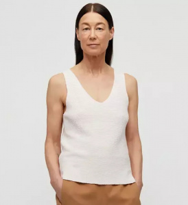 "Knitted Top ""Wilmaa"" - white sand"