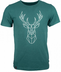 "Mens Tee ""Deer 2020"" (Hanf) - teal"