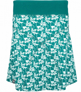 "Daily Skirt ""Lillies"" (Hanf) - teal"