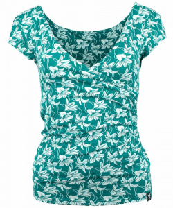 "Top ""Feliz Lillies"" (Hanf) - teal"