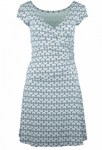 "Party Dress ""Coquilles"" (hemp) - blue moon"