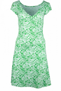 "Party Dress ""Tropical Garden"" (hemp) - spring green"