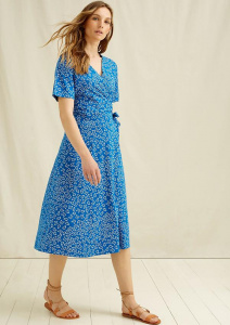 Ria Butterfly Wrap Dress - blue
