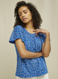 "Top ""Rosamund Butterfly"" - blau"