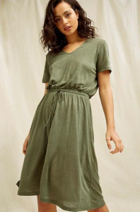 Aryn Linen Dress - khaki