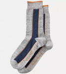 "Nudie Socks ""Olsson Selvage"" - dark grey"