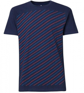 "T-Shirt ""Thin Striped"" - dunkelblau"