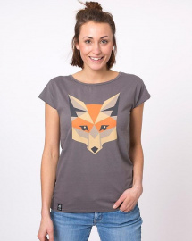 "Zerum Damen T-Shirt ""Fox"" - anthrazit"
