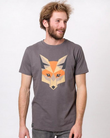 "Zerum Herren T-Shirt ""Fox"" - anthrazit"