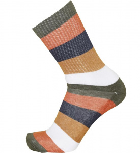 Block Striped 2 Pack Socks - forrest night