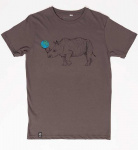 "T-Shirt ""Platte"" - anthracite"