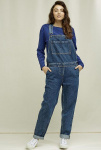 "Latzhose ""Brooklyn"" - blau"