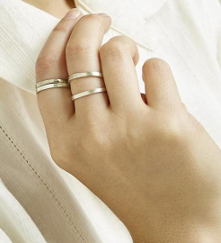 Stackable Rings (set of 4) - silver