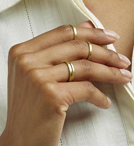Stackable Rings (set of 4) - brass