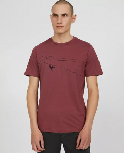 "T-Shirt ""Jaames Mountain Climber"" - sable red"