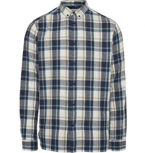 Light Checked Shirt - dunkelblau