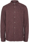 Casual Brushed Shirt - rot meliert