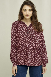 Blouse Wildflower - aubergine