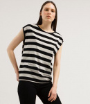"Tencel-shirt ""Jilaa Big Stripes"" -  black/kitt"