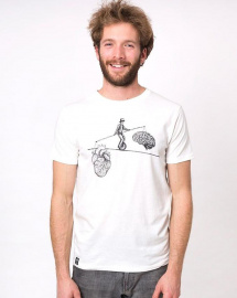 "Zerum Mens T-Shirt ""Balance"" - white"